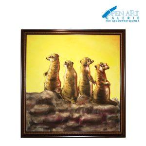 Frank Jakob Esser, Gemälde auf Leinwand gerahmt, 110 x 110 cm, Preis: 2.200,- €
