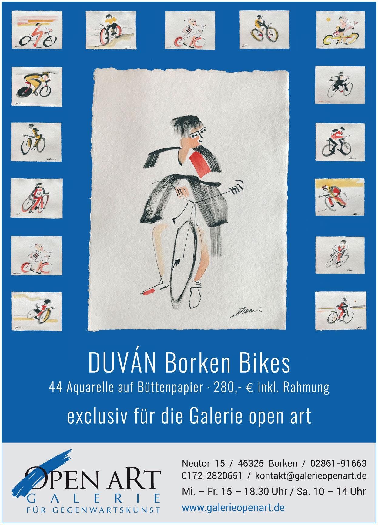 DUVAN Aquarelle auf Büttenpapier, Abmessungen: 42 x 32 cm, Preis pro Aquarell: 280 €