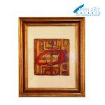 Uta Göbel Groß, Aquarell auf Büttenpapier gerahmt, ca. 43 x 37 cm, Preis: 290,- €