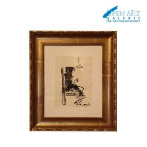 DUVAN, Aquarell auf Büttenpapier gerahmt, 40 x 30 cm, Preis: 480,- €