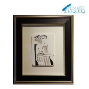 Duvan Original auf Büttenpapier 30 x 32 cm, Preis: 250,- €