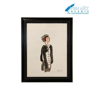 DUVAN Aquarell gerahmt 40 x 30 cm, Preis 450 €